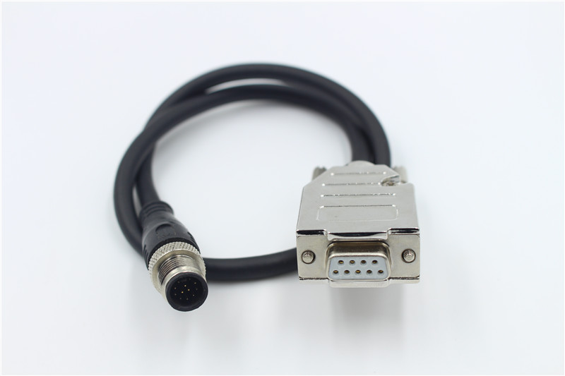 M12 male 9-pin connector pair D-sub VGA 9-pin female computer connector