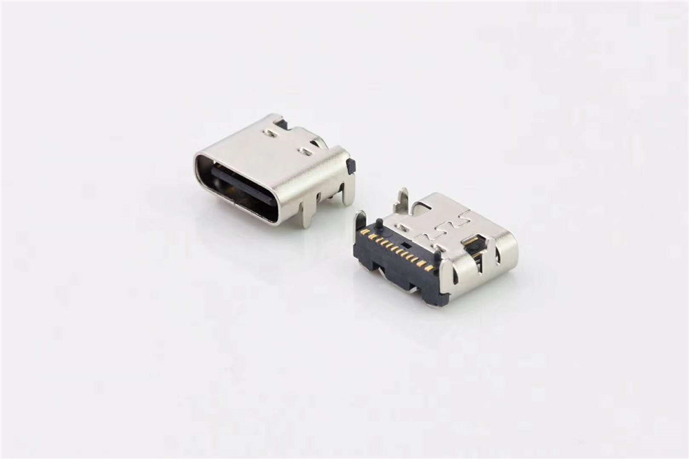 Type C 3.1 female connector full pin Association TID certified connector SMT