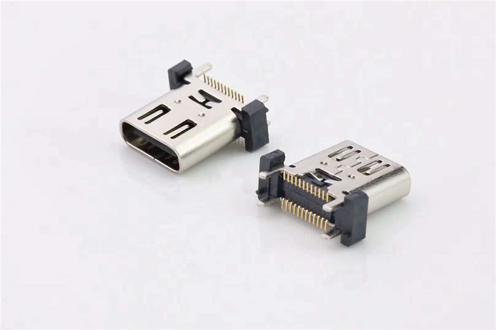 USB type C short body vertical connector c-3.1 vertical SMT connector